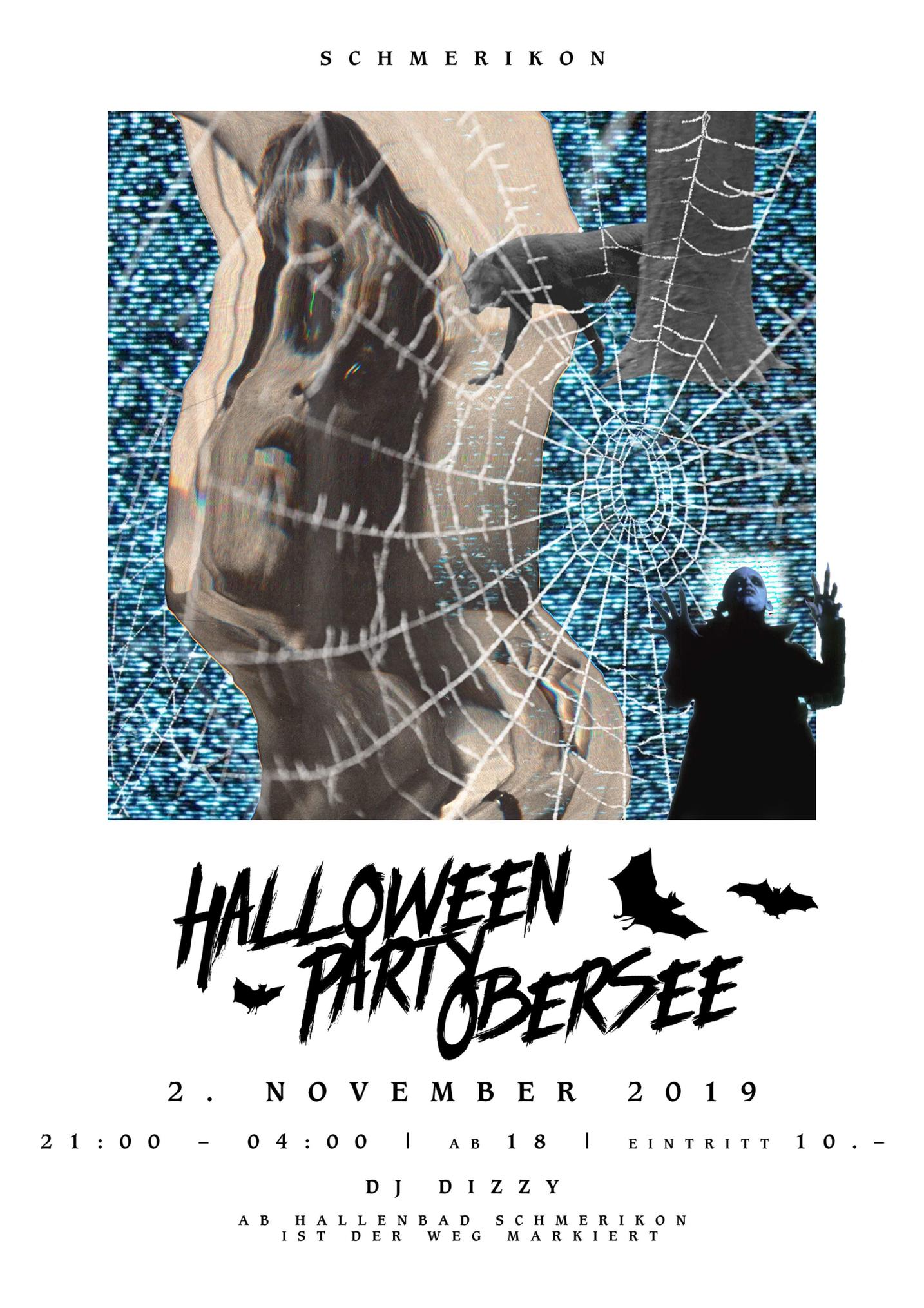 Flyer Halloween Party Obersee 2019