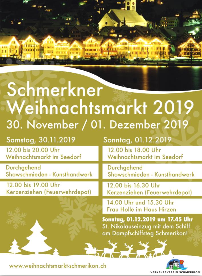 Flyer Weihnachtsmarkt Schmerikon 2019