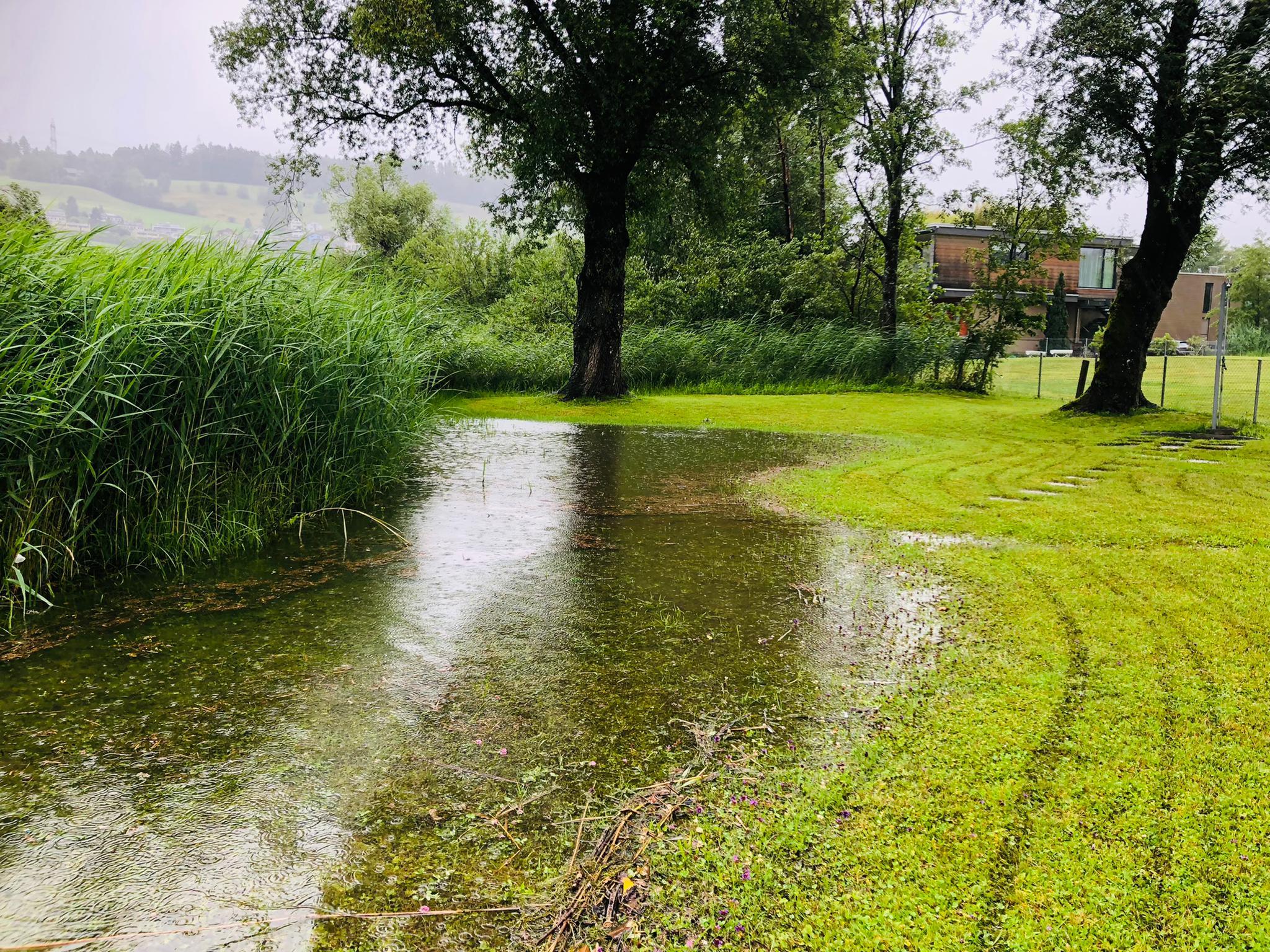 Hochwasser am 13.07.2021 in der Badi Schmerikon (Foto: Fränzi Ruh)