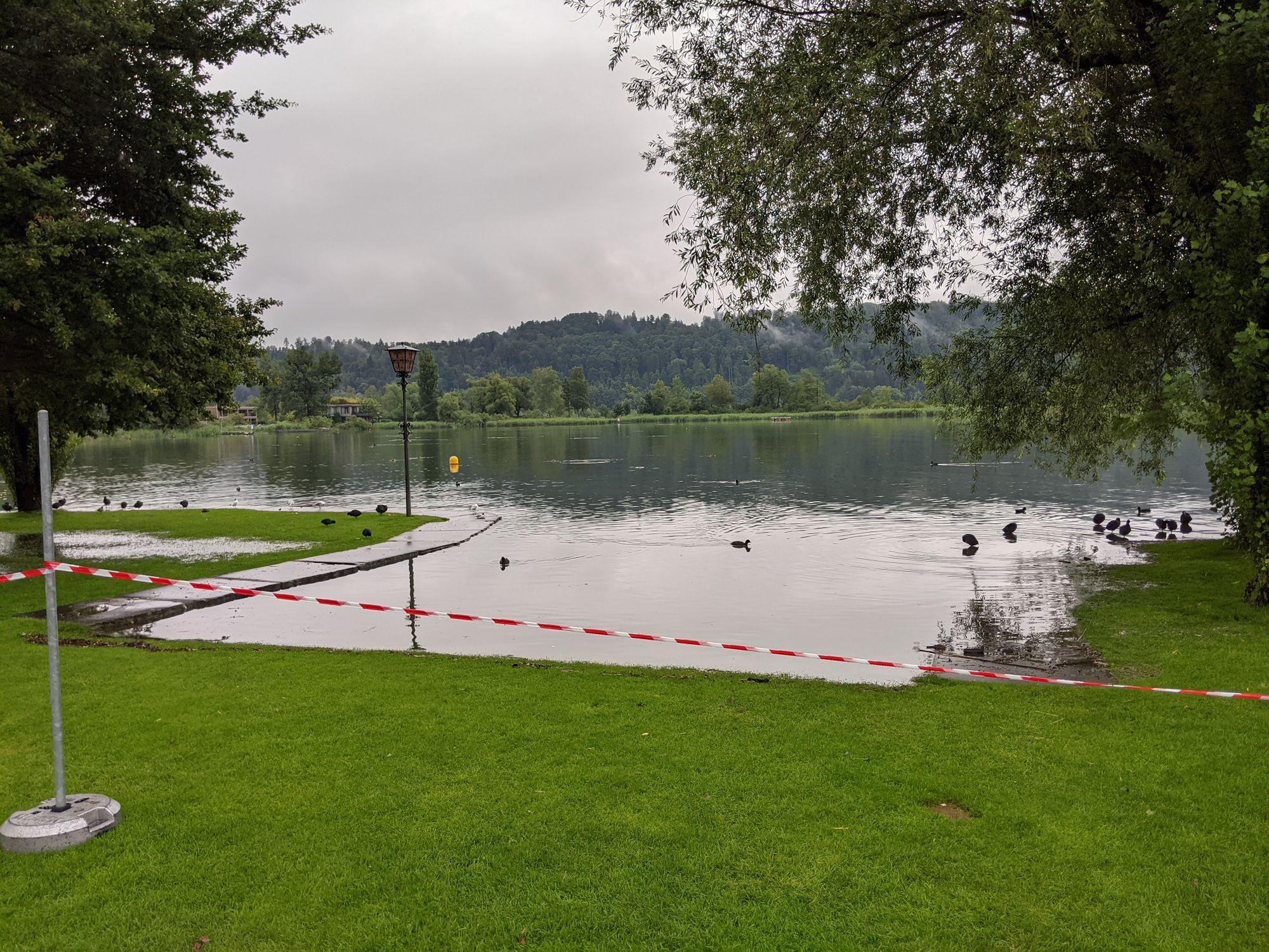 Die Einwasserungsstelle in der Seeanlage ist jetzt eben mit dem See (Foto: Thomas Müller, 8716.ch)