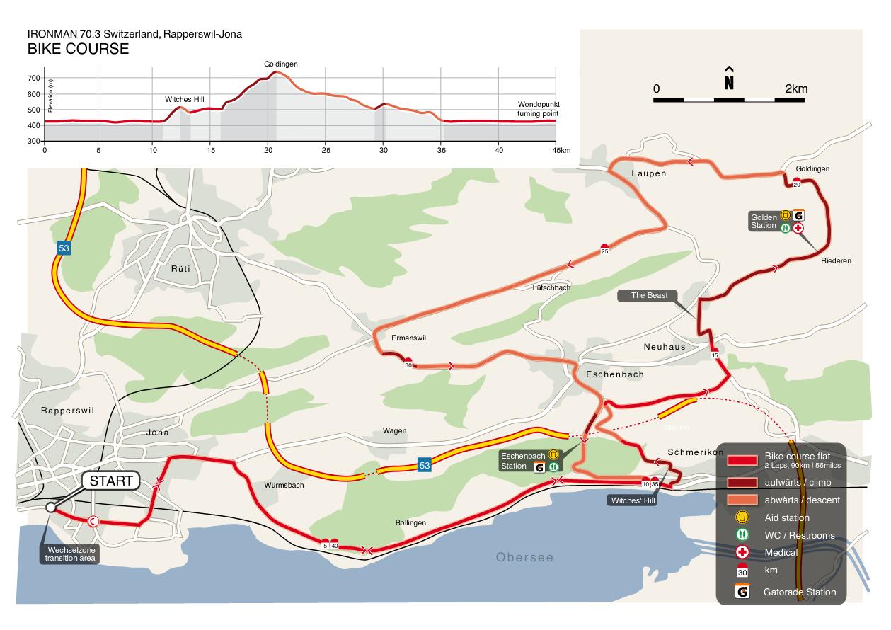Die Radstrecke vom IRONMAN Rapperswil-Jona (Quelle: Ironman Webseite)