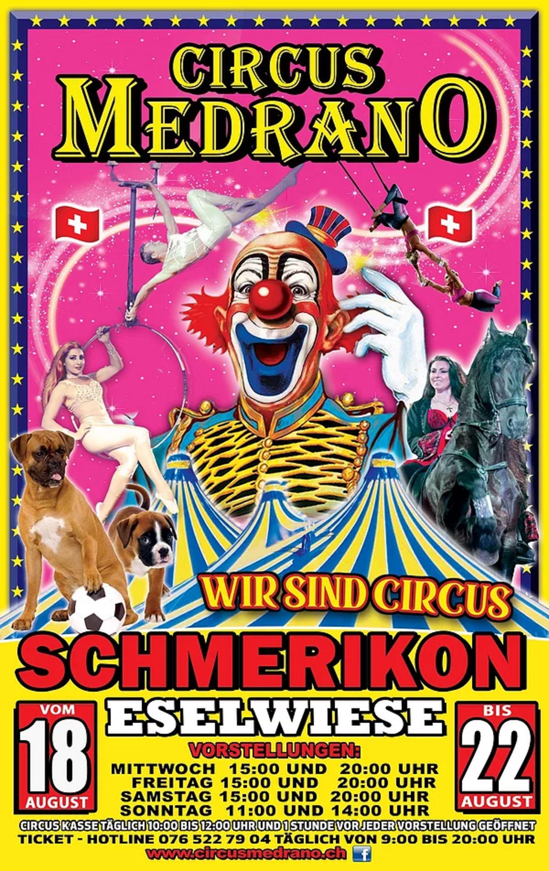 Plakat vom Circus Medrano (Quelle: Webseite Circus Medrano)
