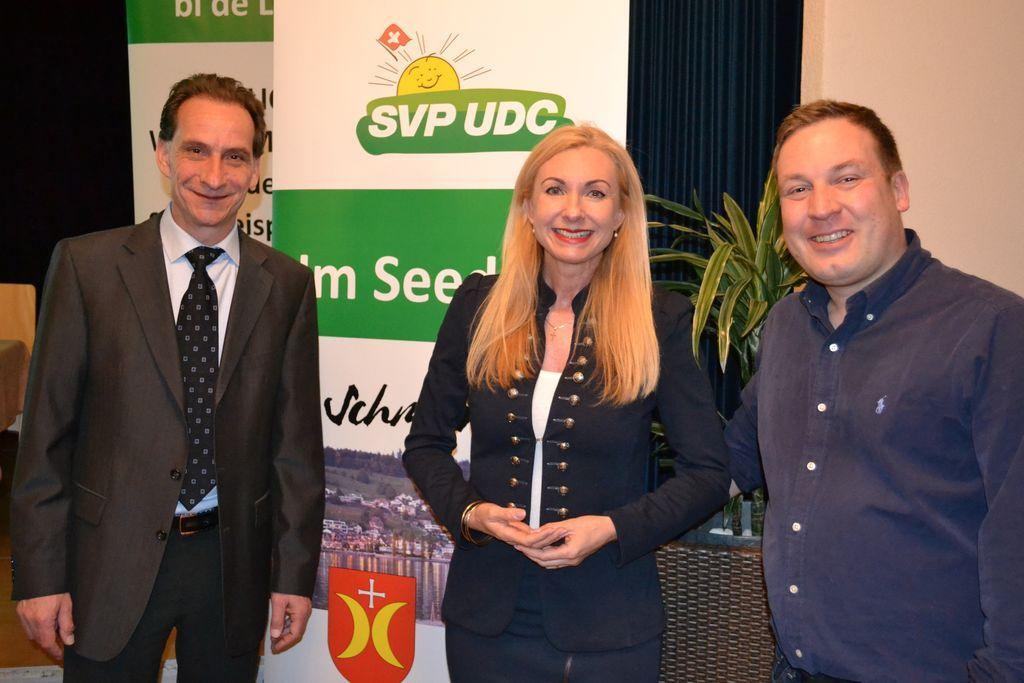 Hauptversammlung und SVP bi de Lüt in Schmerikon