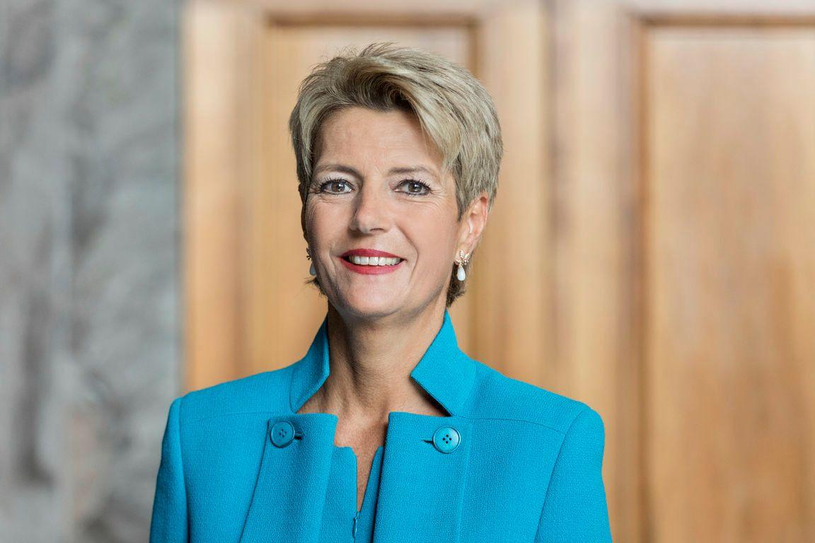 Ständeratspräsidentin Karin Keller-Sutter an der Nationalfeier in Schmerikon