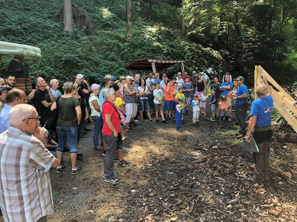 Waldbesichtigung im Buechberg  - die Ortsgemeinde unterwegs