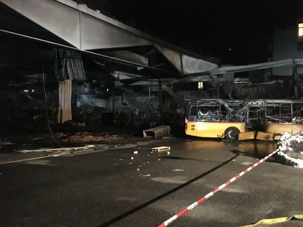 Thomann Garage vom Grossbrand in Chur betroffen