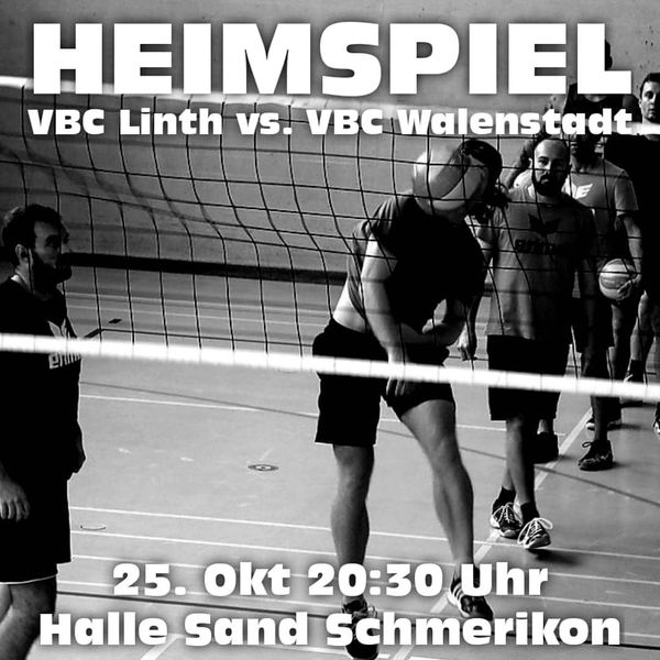Volleyball - Herrenmatch am Freitag 25.10.2019